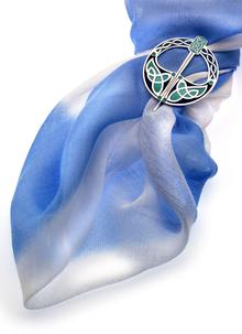 Celtic Enamel Scarf Rings