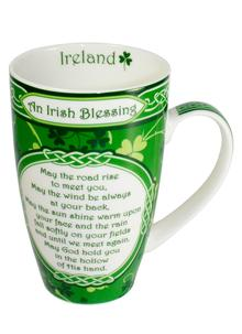 Shamrock Garden Blessing Mug Set of 2