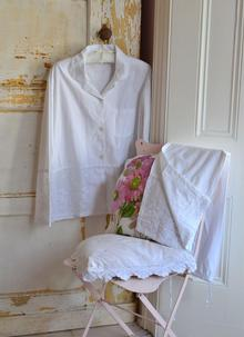 Julia Cotton Pajamas White