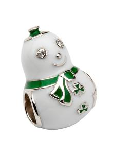 Christmas Sterling Silver Snowman Bead