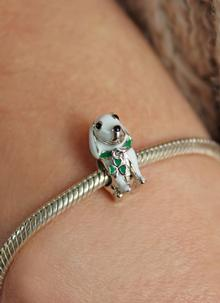 Sterling Silver Dog Bead