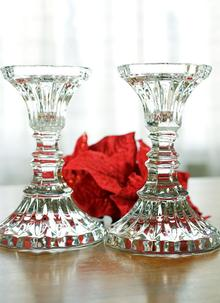 Waterford Crystal Marquis 7 Inch Straight Cut Candleholder Set Of 2