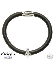 Origin Sterling Silver Trinity Bead Adorned With Swarovski Crystals