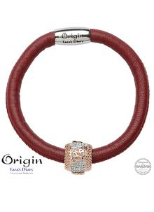 Origin Trinity Rose Gold Plated Bead Adorned With Swarovski Crystals
