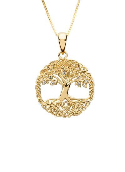 10K Gold Tree Of Life Pendant