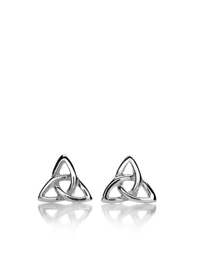 Sterling Silver Trinity Knot Stud Earrings