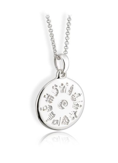 Sterling Silver History Of Ireland Round Pendant
