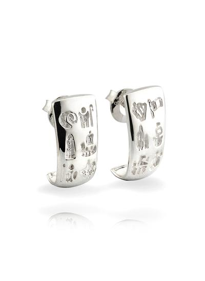 Sterling Silver History Of Ireland Earrings