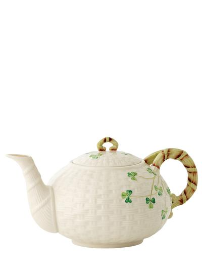 Belleek China Shamrock Teapot