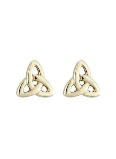 14K Gold Trinity Knot Small Stud Earrings