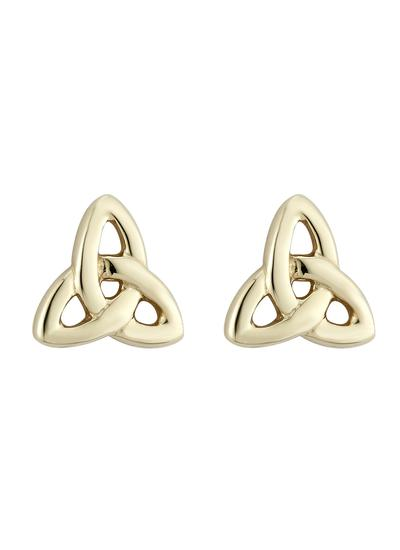 14K Gold Trinity Knot Stud Earrings