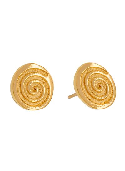 18K Gold Plated Celtic Spiral Stud Earrings