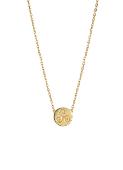 18K Gold Plated Triskele Disc Pendant