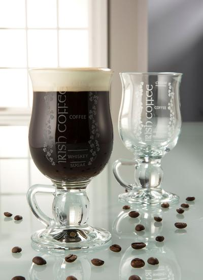 Galway Crystal Irish Coffee Pair (Recipe Included)