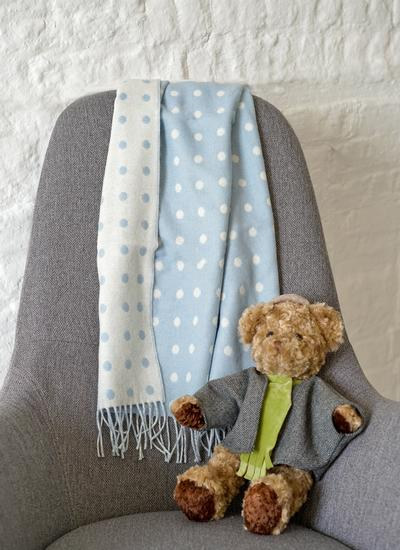 Polka Dot Baby Wrap Blue