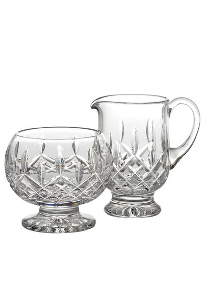 Waterford Crystal Classic Lismore Footed Sugar & Creamer