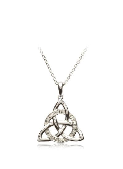 Sterling Silver Cubic Zirconia Trinity Pendant