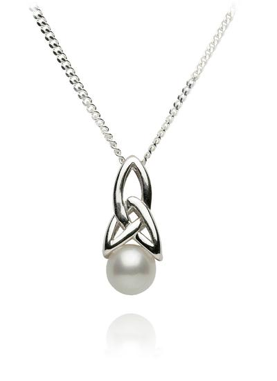 Sterling Silver Trinity Pearl Pendant