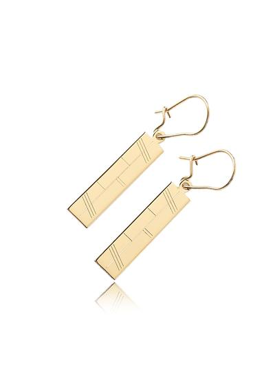 18K Gold Ogham Earrings