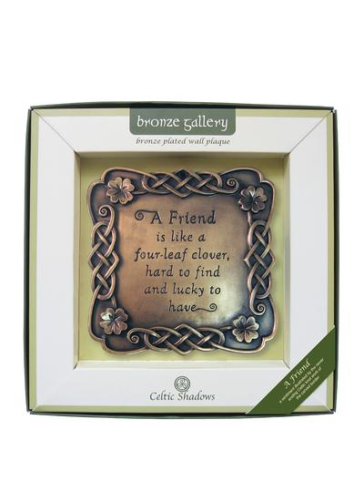 A Friend Bronze Plaque