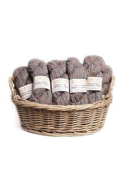 Aran Handknitting Wool Tweed Fossil Pack Of 12