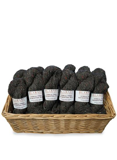Aran Handknitting Wool Tweed Charcoal Pack Of 12