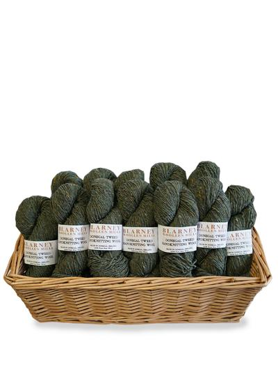 Aran Handknitting Wool Tweed Moss Pack Of 12