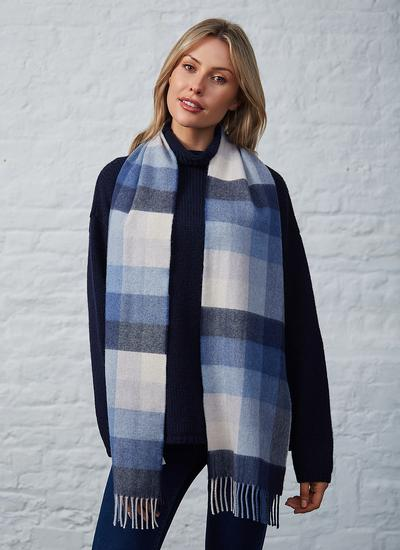 Avoca Merino Wool Scarf Denim