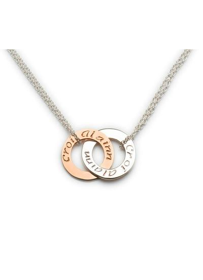 10K Rose Gold & Sterling Silver Croi Alainn Double Pendant