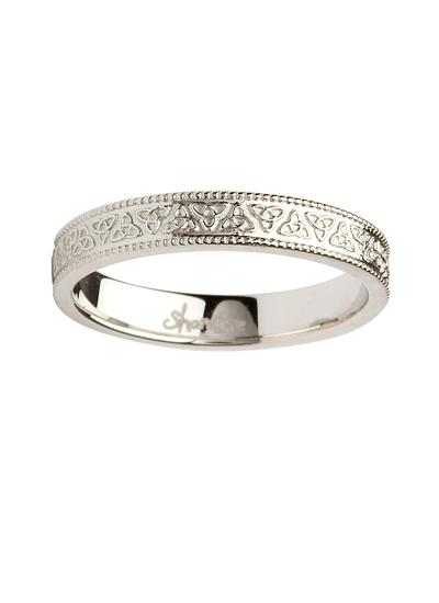 Ladies 14K White Gold Trinity Knot Wedding Ring