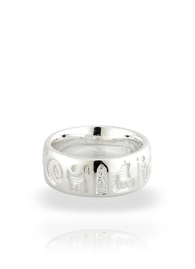 Sterling Silver History of Ireland Ring