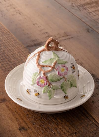 Apple Blossom Honey Pot Dish