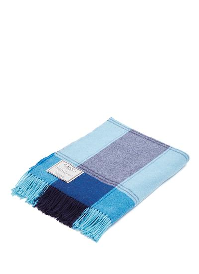 Bellflower Blue Lambswool Throw