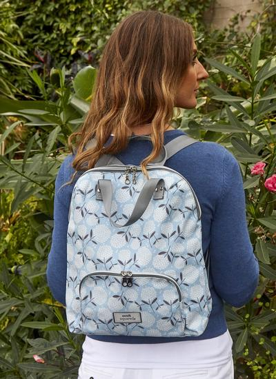 Big Bloom Oil Cloth Backpack