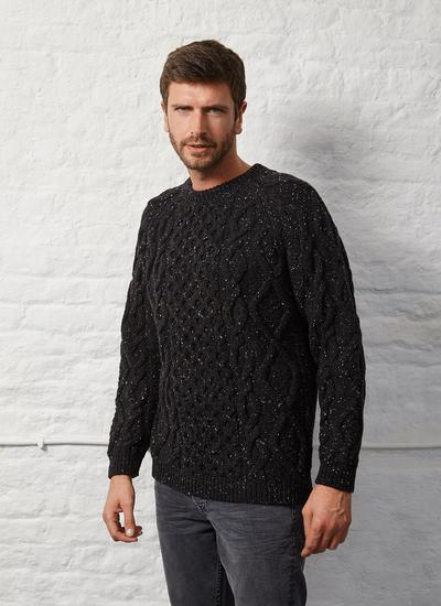 Blarney Aran Crew Neck Sweater