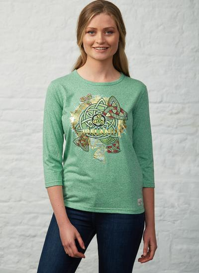 Blarney Exclusive Ireland Trinity Knot Long Sleeve T-Shirt