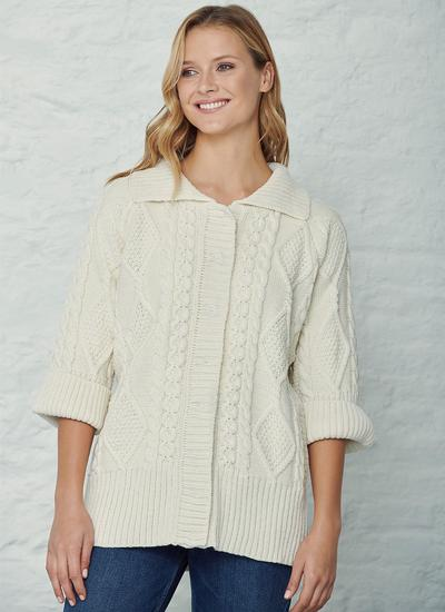 Grace Aran Collar Cardigan