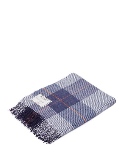 Blarney Heritage Navy Lambswool Throw