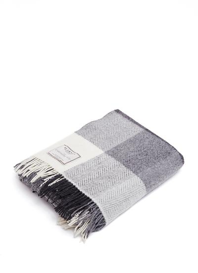 Blarney Traditional Herringbone Wool Cashmere Throw
