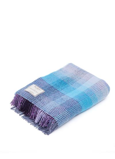 Blue & Purple Wool Cashmere Throw