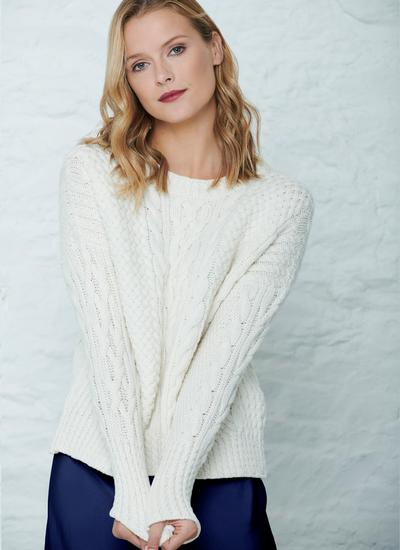 Brid Cable Stitch Aran Sweater