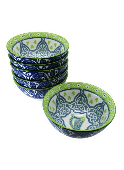Irish Harp Bowls Set of 6