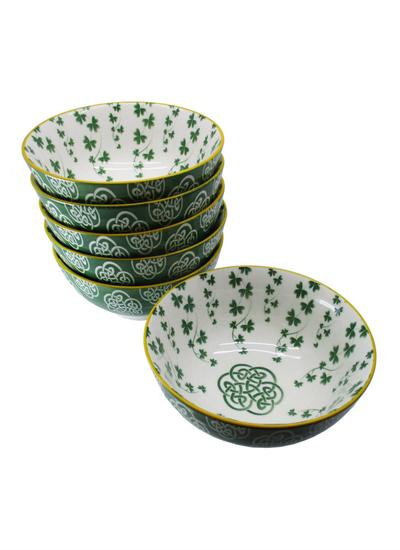 Trellis Shamrock Bowls Set of 6
