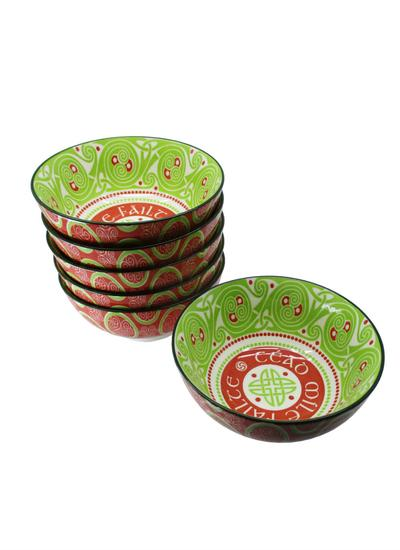 Cead Mile Failte Celtic Bowls Set of 6