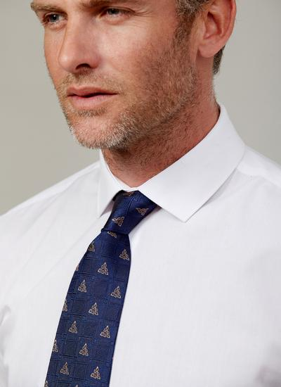Celtic Knot Navy Silk Tie