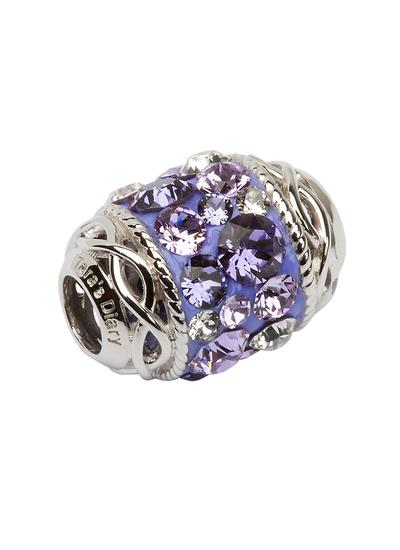 Celtic Knot Bead Embellished With Purple Swarovski Crystals