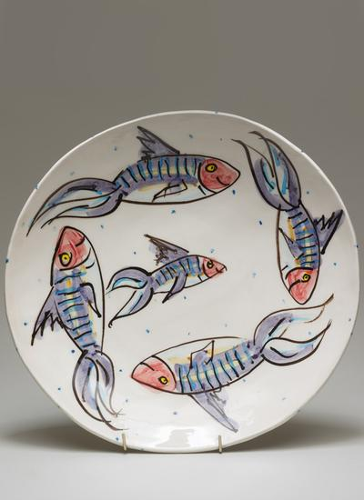Mackerel Large Circular Platter