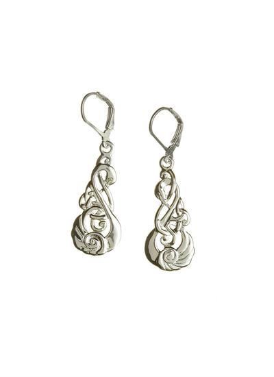 Children of Lir Sterling Silver Drop Earrings