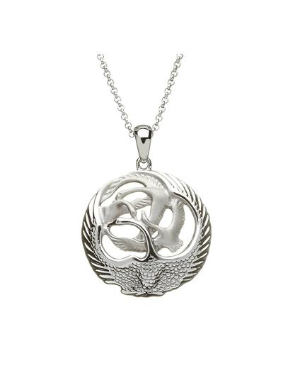 Children Of Lir Sterling Silver Small Pendant