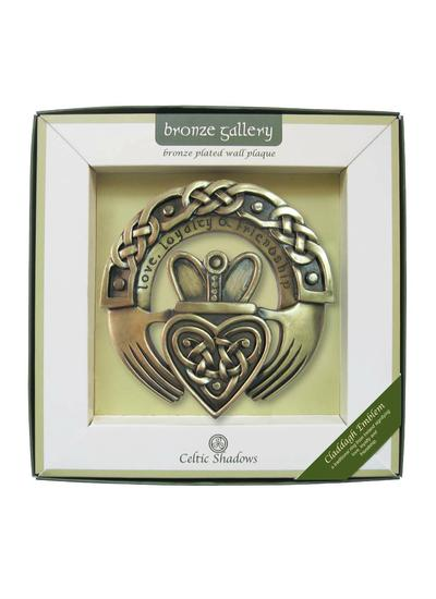 Claddagh Emblem Bronze Wall Plaque